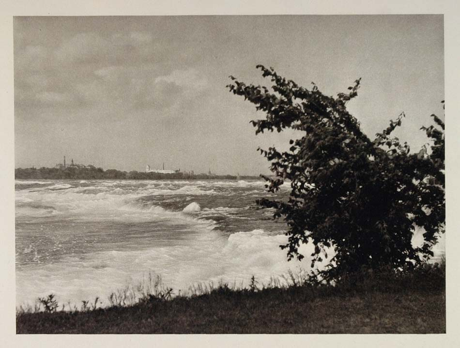 1927 Rapids Niagara New York Photogravure E. O. Hoppe - ORIGINAL US2