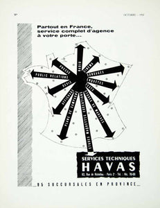 1957 Ad Havas French Agency Publicity Marketing Advertising Fifties France VEN1