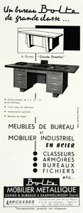 1957 Ad Bolte Metal Desk Furniture Steel Lapouyade French Drawers VEN1