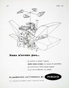 1955 Ad French Advertisement Publicis Advertising J L Besson Machine Kite VEN2