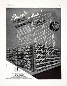 1955 Ad Tirlet Equipment Shelving Unit French France Advertisement VEN2