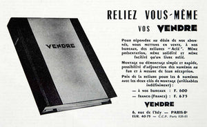 1955 Ad Vendre Magazine Book Rue de l'Isly Paris France French VEN2