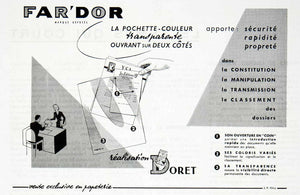 1955 Ad Far'Dor Doret Realisation La Pochette-Couleur French Advertisement VEN2