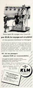 1955 Ad KLM Lignes Aeriennes Royales Mitchell Wright Royal Dutch Airlines VEN2