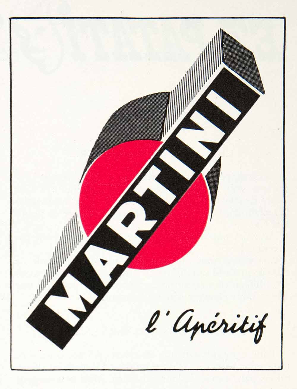 1955 Ad Martini Aperitif Alcohol Beverage Drink French Advertising VEN2