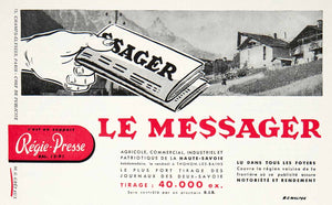 1955 Ad Le Messager Newspaper Regie-Presse French Advertising R E Walter VEN2
