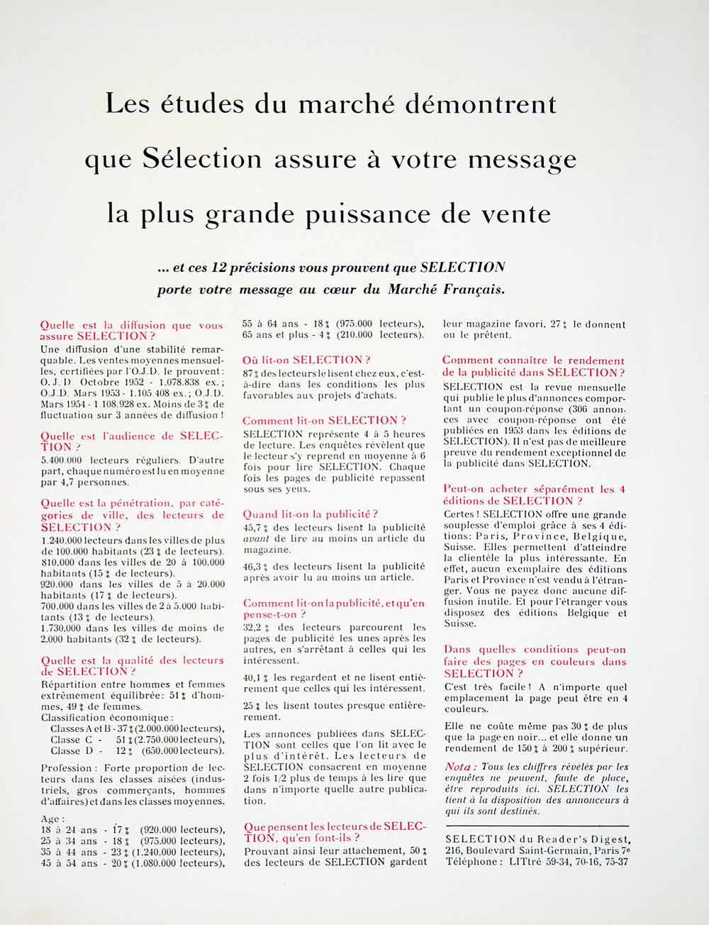 1955 Ad Georges Lissac Selection Readers Digest Suit French 216 Bld St VEN2