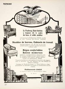 1924 Ad Eagle Furniture Office Chair Desks French 2 Rue Roquette Saint VEN3