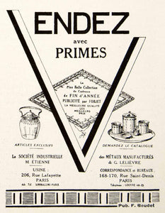 1924 Ad V Logo Graphic Vendez Holiday Gifts Lelievre Etienne Lafayette VEN3