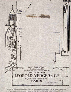 1924 Lithograph Ad Leopold Verger Aly Dior French Advertising Agency Art VEN3 - Period Paper  - 1