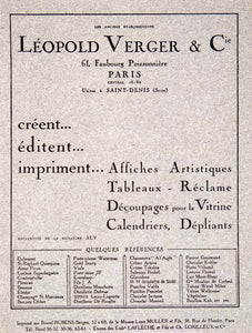 1924 Lithograph Ad Leopold Verger Aly Dior French Advertising Agency Art VEN3 - Period Paper  - 2