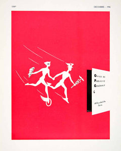 1956 Ad OPG Office Publicite Generale 46 Rue Lille Hermes Vendre Red French VEN6
