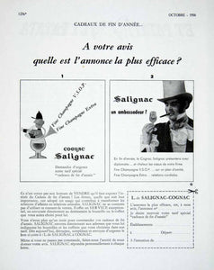 1956 Ad Salignac Contest French Advertising Cognac Alcohol Drink Vote VEN6