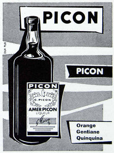 1956 Ad Picon Gentiane Quiquina Liqor Alcohol Drink Bottle French Fifties VEN6 - Period Paper