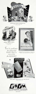 1956 Ad OPIM Cardboard Marketing Displays Excel Gitane Boujois Ovomaltine VEN6