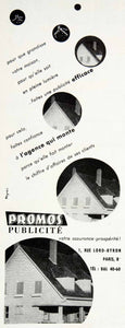 1957 Ad Promos Publicite 1 Rue Lord-Byron Paris Reynes Advertising Agency VEN7