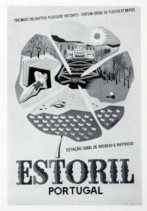 1955 Print Estoril Portugal Tourism Artur Jorge Pleasure Resort Advertising VEN7