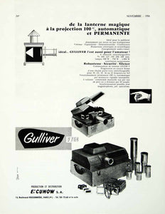 1958 Ad Vintage French Cunow Gulliver P 750 Slide Projector Advertising VENA1