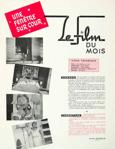 1957 Article French Film Advertising Movie Draps Agalys Linens Sheets Ad VENA1