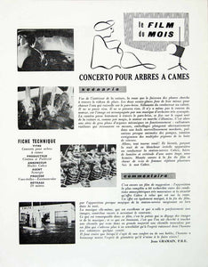 1958 Article French Film Advertising Huiles Caltex Oil Lubricants Movie VENA1