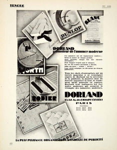 1927 Ad Dorland Rodier Dunlop Advertising Agency Galeries Lilloises French VENA3