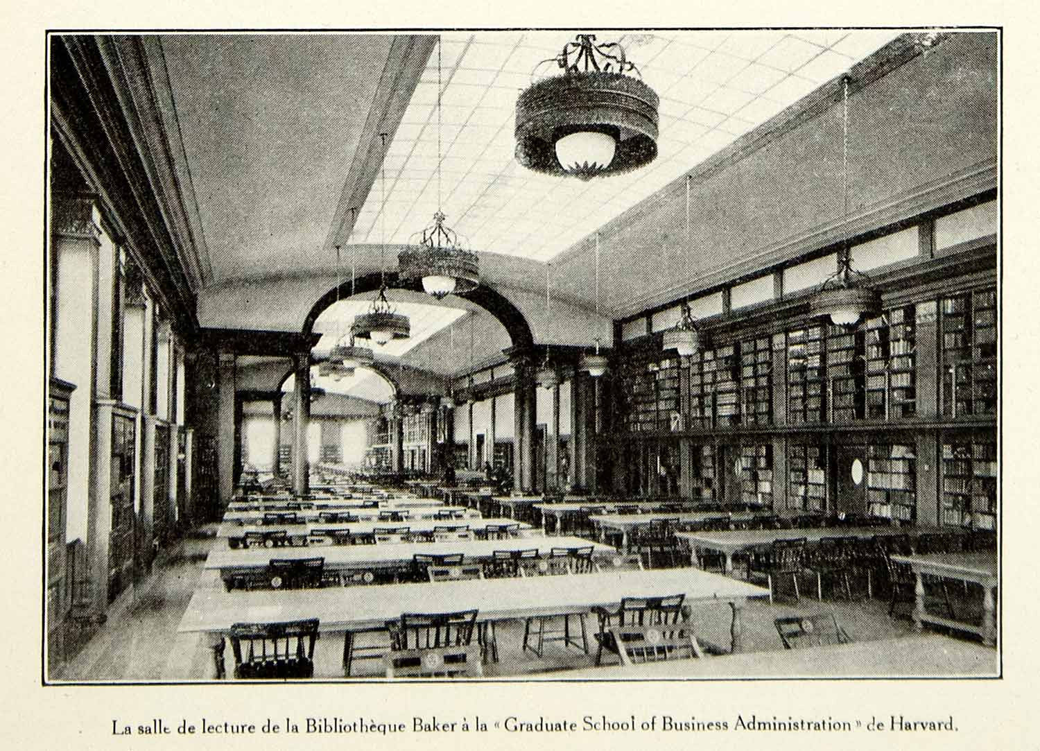 1930 Print Baker Library Harvard Bloomberg Center Historical View Table VENA3 - Period Paper