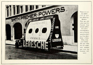 1930 Print Lames Leresche Automobile Advertising Smith Premier Powers VENA3