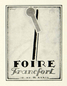 1930 Print Loupot Francfort Foire Fair Frankfurt Historical Advertising VENA3