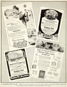 1927 Print Southern Pine Association Lawn Construction Advertising Wood VENA3