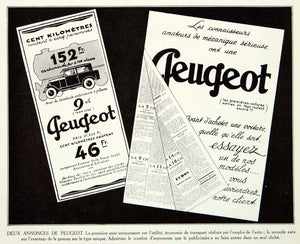 1927 Print Peugeot Automobile Car Advertisement French Vehicle Marketing VENA3