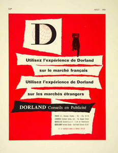 1955 Lithograph Ad Dorland French Advertising Agency Publicite Marketing VENA4