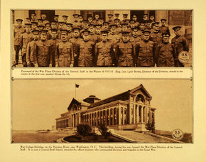 1920 Rotogravure WWI War College Building Washington D.C. Military Staff WAR1