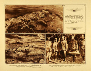 1920 Rotogravure WWI Hattonchattel Aerial View Shell Craters Military WAR1