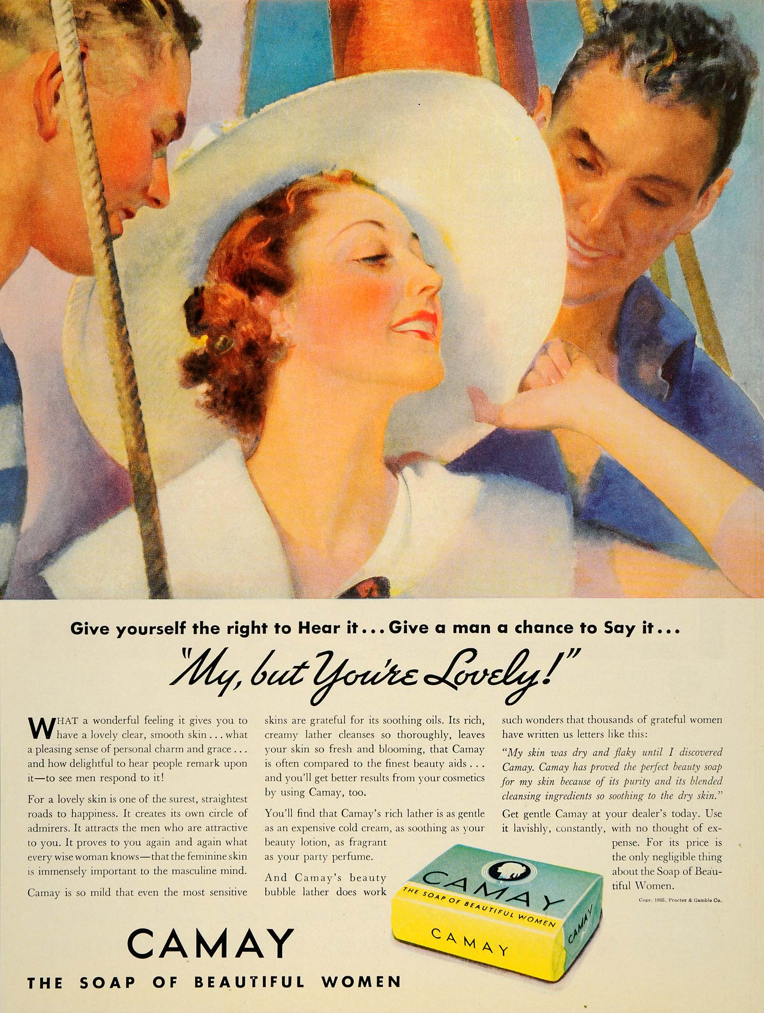 1935 Ad Camay Soap Women Skin Beauty Proctor Gamble - ORIGINAL ADVERTISING WH1