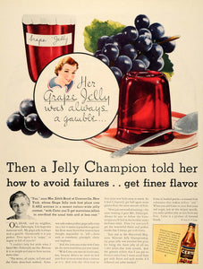 1934 Ad General Food Certo Pectin Product Grape Jelly - ORIGINAL ADVERTISING WH1