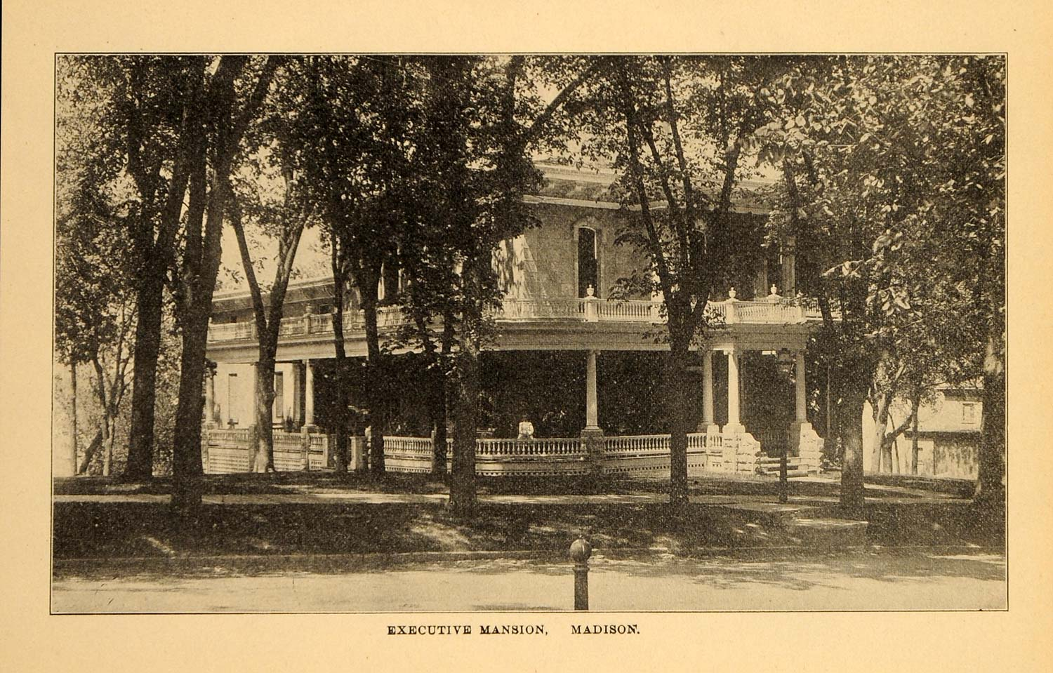 1907 Wisconsin State Executive Mansion Madison WI Print ORIGINAL HISTORIC WI1