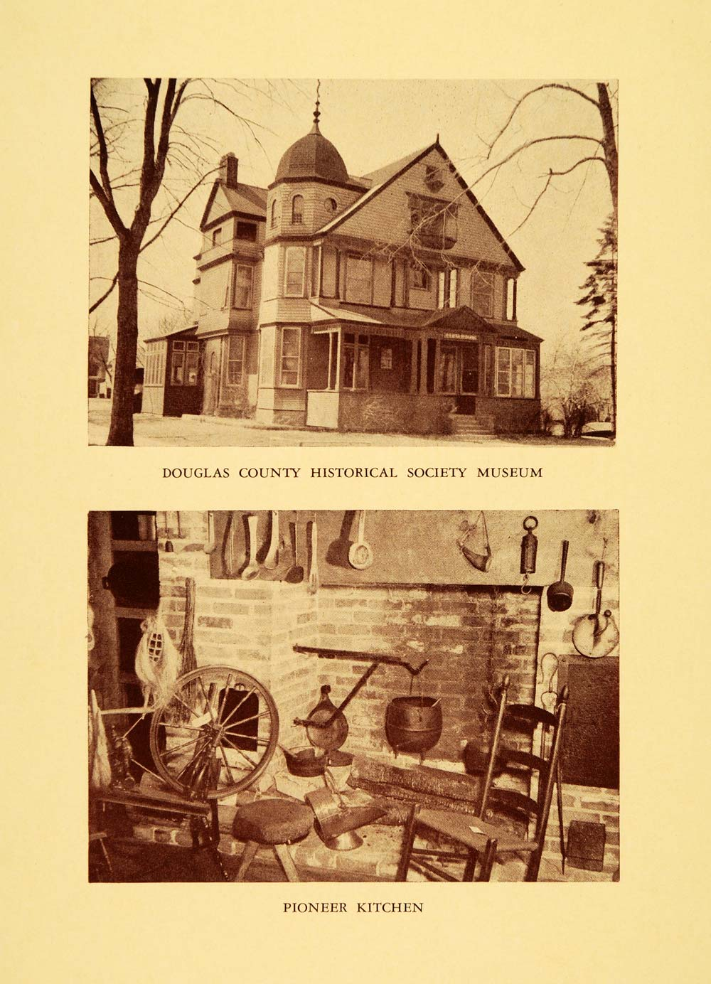 1948 Print Douglas County Historical Society Museum - ORIGINAL HISTORIC WIS1