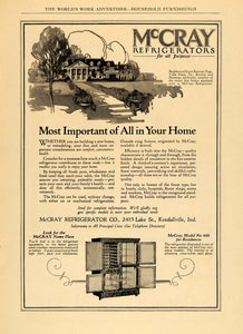 1924 Ad McCray Residence Refrigerator Model No. 460 - ORIGINAL ADVERTISING WW3