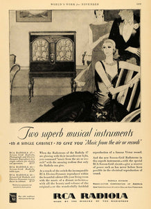 1929 Ad RCA Radiola Musical Instrument Fashion Music - ORIGINAL ADVERTISING WW3