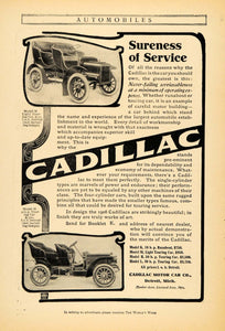 1906 Ad Cadillac Motors Model M H Touring Cars Detroit - ORIGINAL WW3