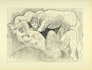1956 Print Pablo Picasso Etching The Rape Modern Art Suite Vollard Nude Abstract
