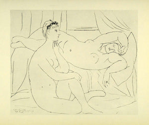 1956 Print Pablo Picasso Two Nudes Resting Portarit Suite Vollard Modern Art