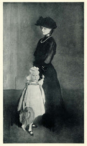 1905 Print Edwardian Fashion Mother Daughter Cecilia Beaux Female Painter XAD9