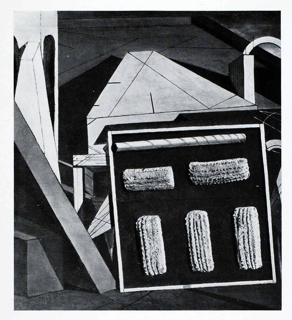 1941 Print Gentle Afternoon Giorgio de Chirico Art Geometrical Shapes XAF2