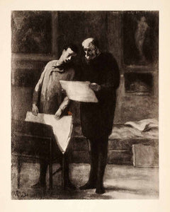 1936 Photolithograph Honore Daumier Print Collect Men Art Gallery XAF5
