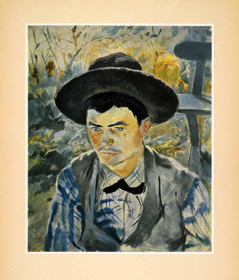1952 Tipped-In Print Le Jeune Routy Portrait Henri Toulouse-Lautrec Royalty XAG1
