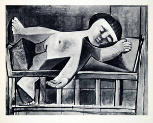 1965 Print Pablo Picasso Paloma Asleep Daughter Child Sleeping Abstract Art XAG9