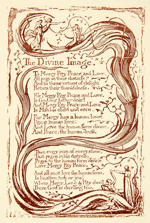1863 Photolithograph William Blake Divine Image Illustrated Poem Poetry Xaha3