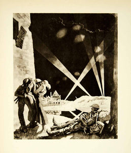 1921 Rotogravure William Orpen Art WWI Changing Billets Soldier XAHA8