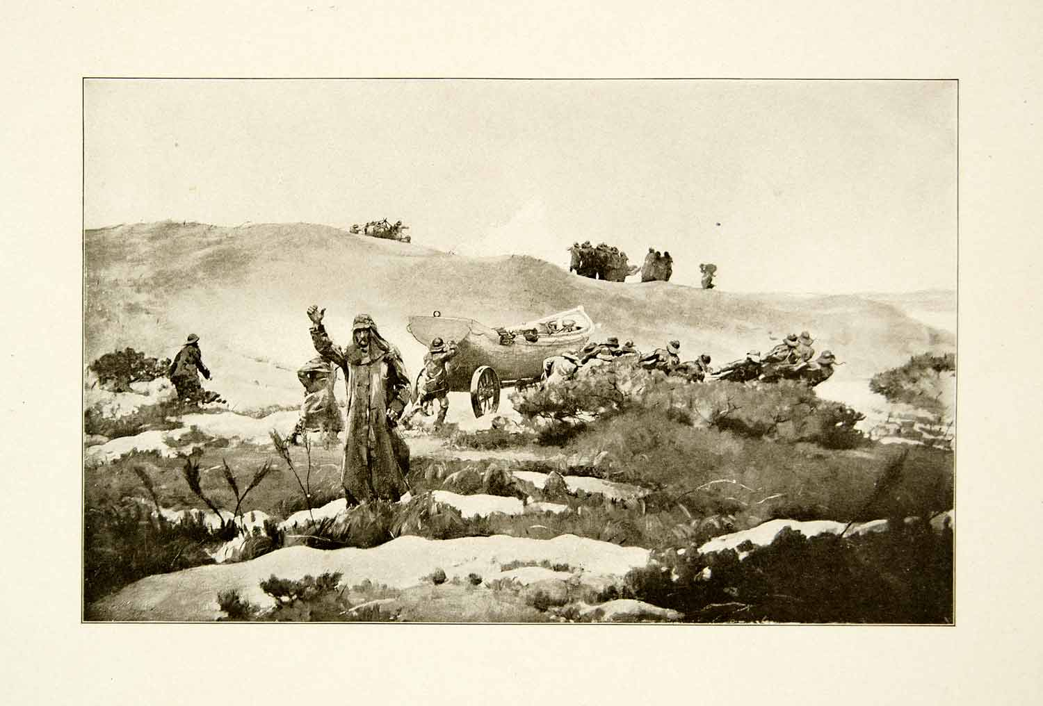 1911 Print Wreck Winslow Homer Landscape Crash New England Scenic New XAIA7